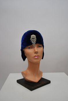 1920's Velvet Cloche with Pin by govintagego on Etsy, $275.00