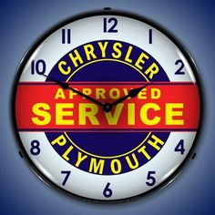 Chrysler Plymouth Neon Clock approved service Genuine Truck garage RAM lamp