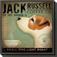 Jack Russel Coffee Co. Framed Print Mount by Stephen Fowler at AllPosters.com
