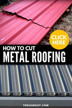 To install metal roofing yourself, you first need to learn how to cut the metal roofing panels to the appropriate size. Together with the right power tools, our step-by-step guide will explain everything you need to know so that you can cut metal roofing like a pro.  #thesawguy #DIYroof #howtocutmetalroofing #metalroofing #DIYhome #homeimprovement #howtoinstallroofing