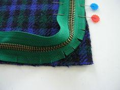How to sew a zipper around a corner.