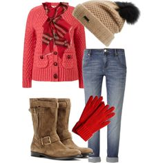 A fashion look from November 2014 featuring Orla Kiely cardigans, sass & bide jeans and Burberry boots. Browse and shop related looks.
