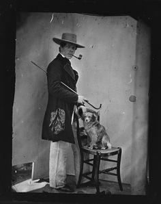 Zelfportret van de bekende fotograaf Jacob Olie uit de jaren 1862-1864
