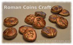 Susan's Homeschool Blog - http://susanevans.org/blog/roman-coins-craft/