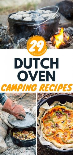 We've gathered the best dutch oven recipes for camping in this post! A Dutch oven is one of the most versatile pieces of camp cooking equipment you can own. Sauté steam simmer fry and bake if you can imagine it you can make it in a Dutch oven. Campfire Dutch Oven Recipes, Dutch Oven Camping, Campfire Food, Ditch Oven Recipes, Dutch Oven Meals, Camping Cooking Equipment, Camping Meals, Best Camping Recipes, Best Camping Food