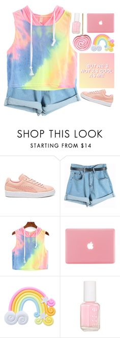 """""""summer date"""" by emilypondng ❤ liked on Polyvore featuring Puma, Chicnova Fashion, Rad+Refined, Essie, statefair and summerdate"""