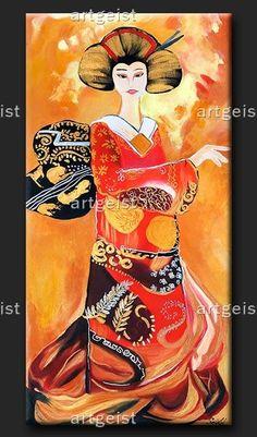 geisha wandbilder