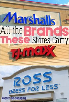 What Name-Brands Can You Find at Ross, TJ Maxx, and Marshalls - Finance tips, saving money, budgeting planner Savings Planner, Budget Planner, Best Money Saving Tips, Saving Money, Money Tips, Bargain Shopping, Shopping Hacks, Store Hacks, Preparing For Retirement
