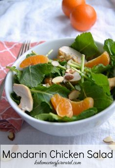 Mandarin Orange Chicken Salad - A healthy and delicious lunch option inspired by Wendy's Mandarin Chicken Salad! So good and a great way to mix up your healthy lunch.