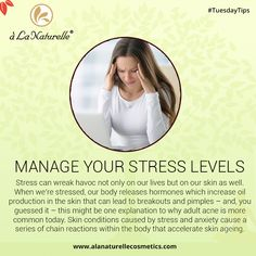 #TuesdayTips Stress can wreak havoc not only on our lives but on our skin as well. When we're stressed, our body releases hormones which increase oil production in the skin that can lead to breakouts and pimples. Skin conditions caused by stress and anxiety cause a series of chain reactions within the body that accelerate skin ageing.   #skincare #beauty  #rejuvenate #soft #smooth #skin #luxury #relax #refresh