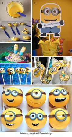 who wouldn't want to have a minion partay? Minion Party Food, Minion Theme, Despicable Me Party, Minion Birthday, Minion Baby Shower, 4th Birthday Parties, 2nd Birthday, Birthday Ideas, Childrens Party