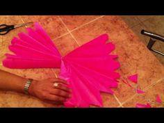 Pompones de papel China - YouTube