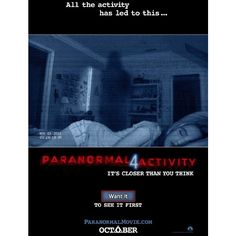 Paranormal Activity 4 ❤ liked on Polyvore featuring movies, dvds and fillers