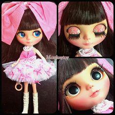 OOAK Custom Modify Face Blythe Blybe Basaak CCE Doll Blythe Clone Doll # n