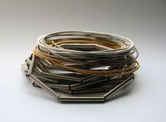 """bracelets by La Mollla  Mix of bracelet """"Misty"""" and """"salt & pepper gold"""" info@tizianaredavid.com"""