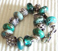 Southwestern turquoise look to these beads