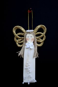 Mother Wooden Angel Ornament