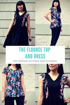 The Flounce Dress and Top PDF sewing pattern:  The files