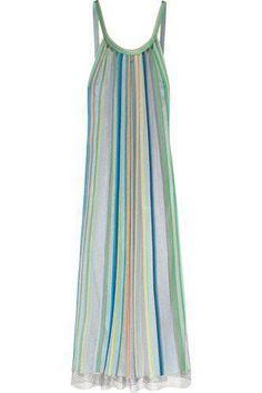 Striped crochet-knit maxi dress #knitdress #women #covetme #missoni