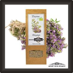100%%20Natural%20%20ORGANIC%20THYME%20FROM%20ANCIENT%20GREEK%20AREAS%20%2040gr Ancient Greek, Packing, Herbs, Organic, Food, Bag Packaging, Essen, Herb, Meals