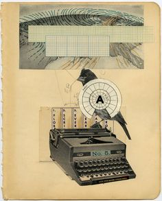 art journal inspirational collage - original pinner sez: loving vintage typewriters lately!