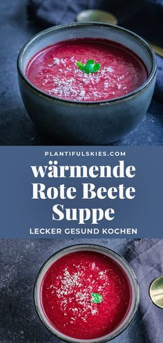 Ayurvedische Rote Beete Suppe mit Kokosmilch Simple recipe for quick healthy beetroot soup. Easily prepared, perfect for pre-cooking. Healthy Eating Tips, Healthy Nutrition, Beetroot Soup, Coconut Milk Soup, Winter Dishes, Vegetarian Recipes, Healthy Recipes, Cooking Recipes, Vegetable Drinks