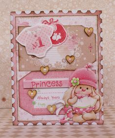 ScrapBerry's: sweet card by Romy Veul. My Little Star Collection