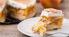 Apfelkuchen Rezept Apfel-Sahne-Torte mit Pudding