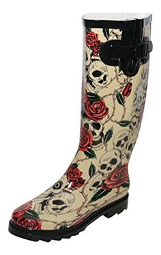 Stylish Womens Rain Boots Water Shoes High Leg With Cute Pattern Tyc244 -- You can get more details by clicking on the image.