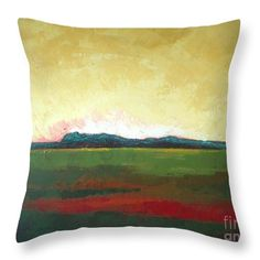 Landscape Throw Pillow featuring the painting Sunrise by Vesna Antic