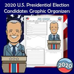 2020 Presidential Election Graphic Organizers by Dr Loftin's Learning Emporium Social Studies Lesson Plans, Social Studies Activities, Presidential Election, Middle School Classroom, High School, Campaign Slogans, Career Education, Graphic Organizers