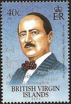 Nobel Prize Winners, Freemason, British Virgin Islands, Postage Stamps, Authors, Writers, Literature, Saints, Saint John