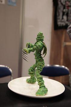 Spaghetti Warrior Figurine スパゲッティ戦士の置物, Design Festa