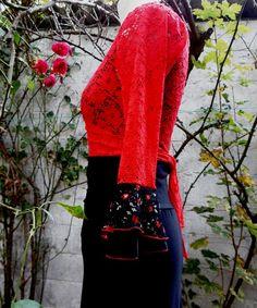 Cache-coeur en dentelle flamenco de fifi soleki sur DaWanda.com