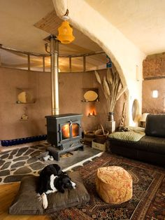 something of a dream come true - a straw bale house