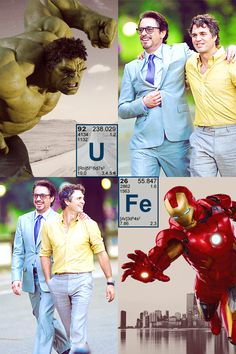 Tony Stark - Iron Man & Bruce Banner - Hulk, The Avengers