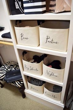 Closet Organizer Custom Canvas Storage Basket - A Southern Bucket organisation Custom Closet Organizer Basket Closet Storage Bins, Storage Baskets, Diy Storage, Wardrobe Storage, Storage Hacks, Shelves For Closet, Shoe Storage Small Closet, Home Storage Ideas, Storage Bin Shelves