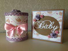 Randis hobbyverden: Gavesett til en liten Baby i rosa/lilla