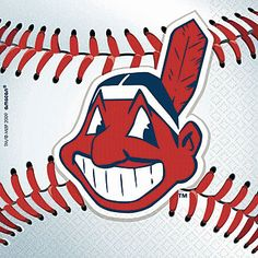 Our Cleveland Indians Beverage Napkins feature the Indians' team logo printed on a major league baseball. Each 2 ply Indians party napkin comes in a package of thirty six.
