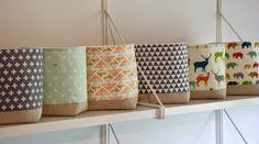 a crafty hen: More Storage Baskets in New Designs Storage Baskets With Lids, Toy Storage Boxes, Bench With Storage, Plastic Storage, Storage Spaces, Knitting Storage, Wood Pieces, Kids Room, Crafty