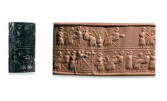 Week 22: Lapis Lazuli cylinder seal, from Ur about 2600 BC