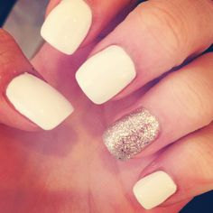 I'm not totally in love with this trend.. But if I decided to try it, ivory and gold would be the way to go