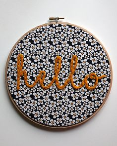 Items similar to Decorative embroidery hoop 20 cm. on Etsy Embroidery Hoop Art, Cross Stitch Embroidery, Embroidery Patterns, Embroidery Fabric, Arte Punch, Punch Art, Floral Print Fabric, Print Fabrics, Prints