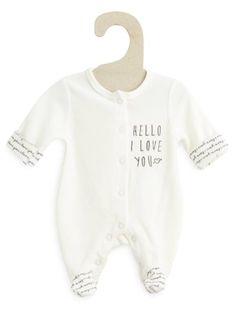 Pyjama en velours                                          blanc Bébé fille