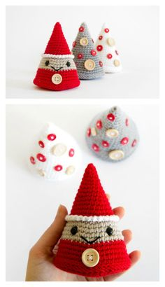 Tree and Christmas Elf Amigurumi Free Crochet Pattern