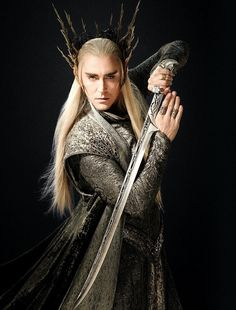 * my edits Lee Pace Thranduil Hobbit Cast hobbitedit elvenking mirkwood elves i think thran's costumes and weapons are my fave in the movie too i can't believe that sword is one piece of metal wow that sword is freaking gorgeous DoS chronicles