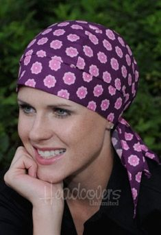 Headwraps for Cancer patients. These popular headwrap turbans are so cool and comfortable. 100% cotton. Made in the U.S.A., in a wide variety of designer fabrics. www.headcovers.com