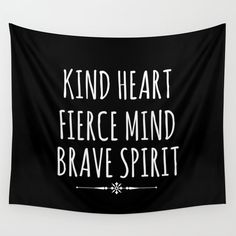 Black and White quote Tapestry wall hanging by CharmsofInspiration