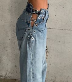 sporting our Chain Pants ⛓⛓⛓available on our website Denim Fashion, Look Fashion, Fashion Outfits, Womens Fashion, Fashion Design, Curvy Fashion, Fashion Addict, Fashion Fashion, Korean Fashion