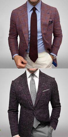 Classic Men's Plaid Blazer - Men's style, accessories, mens fashion trends 2020 Blazer Outfits Men, Stylish Mens Outfits, Blazer Fashion, Men Blazer, Plaid Fashion, Plaid Blazer, Mens Fashion Suits, Mens Suits, Mode Masculine